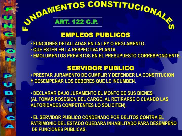 FUNDAMENTOS CONSTITUCIONALES