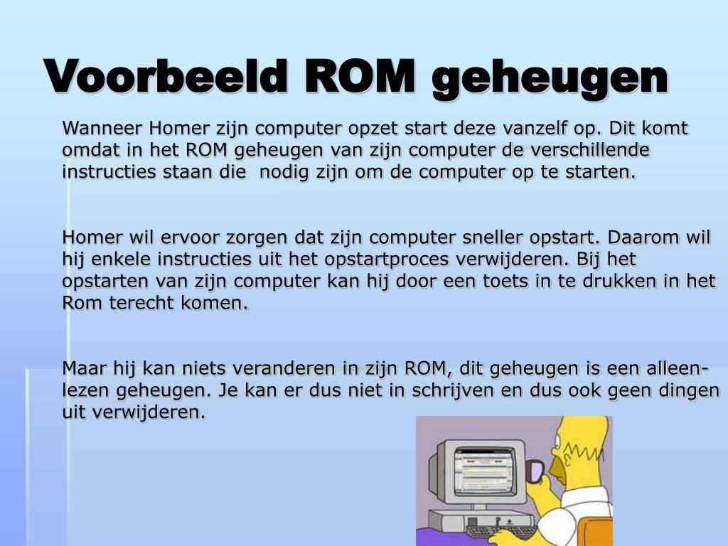 Voorbeeld ROM geheugen
