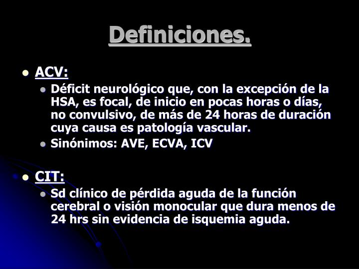 Definiciones.