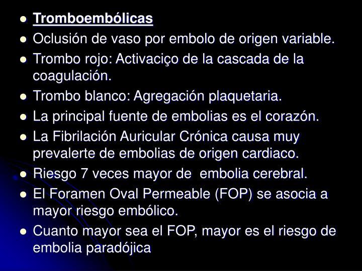 Tromboemblicas