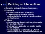 deciding on interventions1