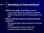 deciding on interventions3
