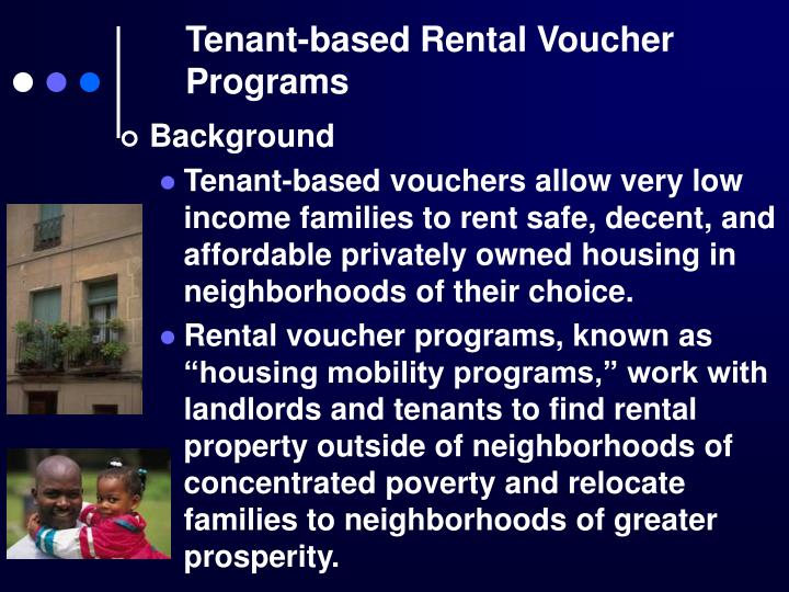 Tenant-based Rental Voucher Programs