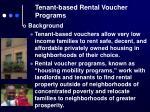 tenant based rental voucher programs