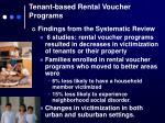 tenant based rental voucher programs1