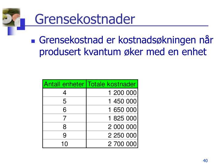 Grensekostnader