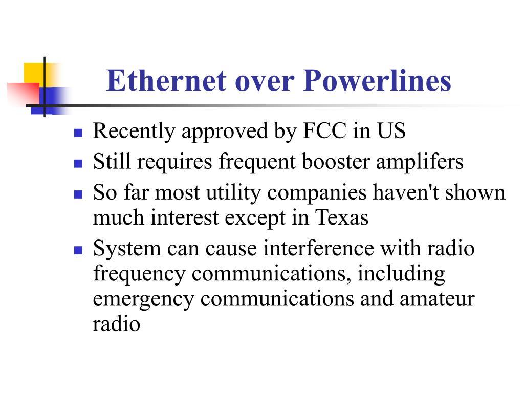 Ethernet over Powerlines