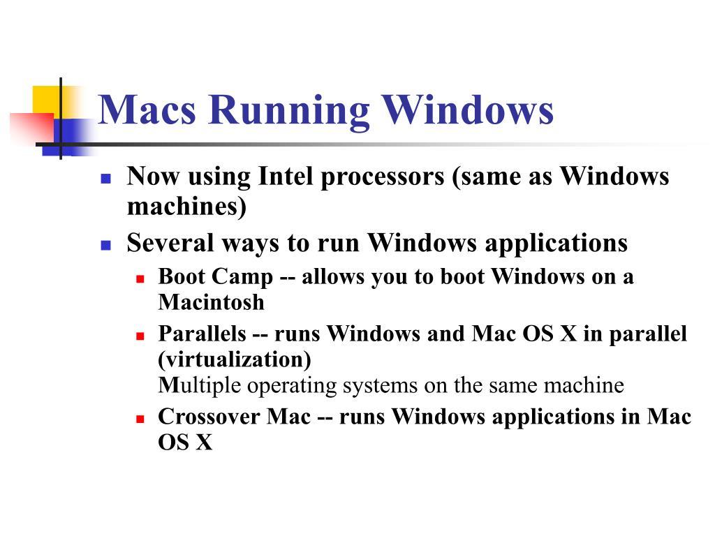 Macs Running Windows