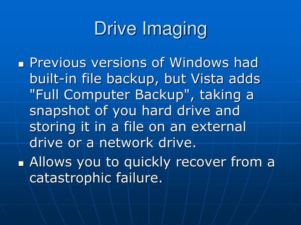 Drive Imaging