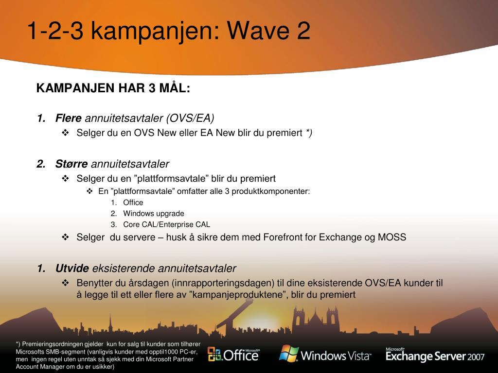 1-2-3 kampanjen: Wave 2