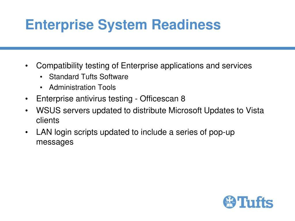 Enterprise System Readiness