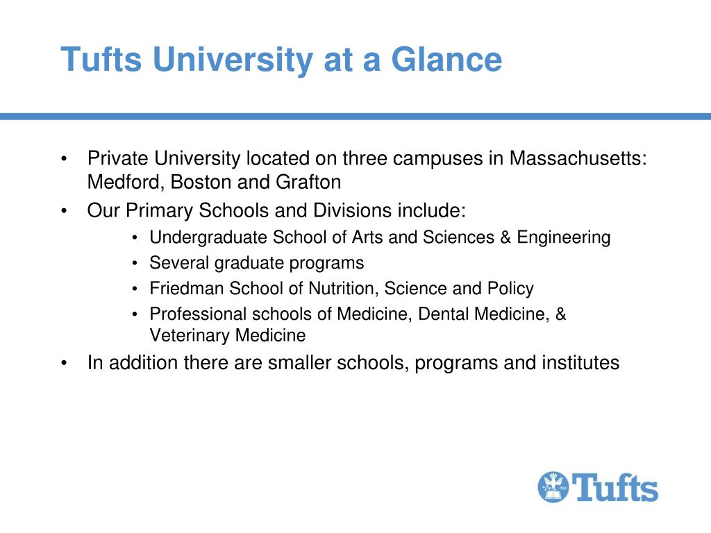 Tufts University at a Glance