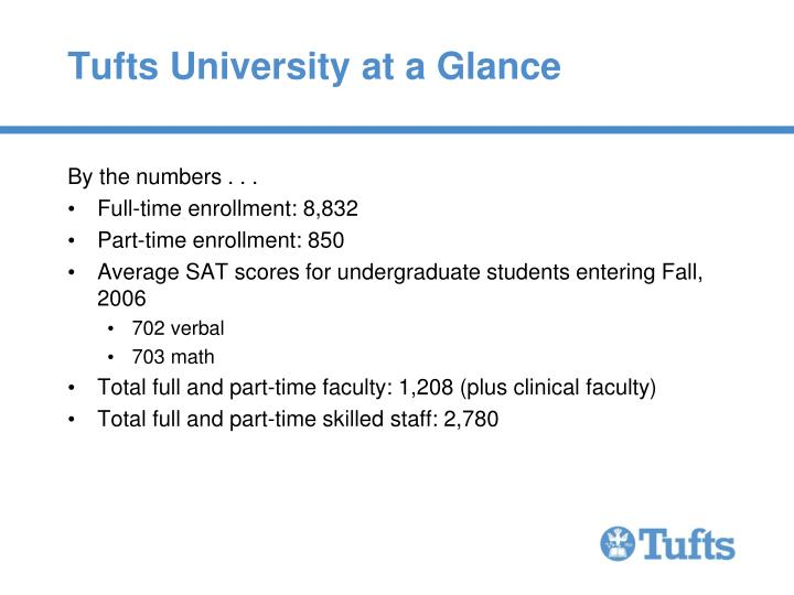 Tufts university at a glance3
