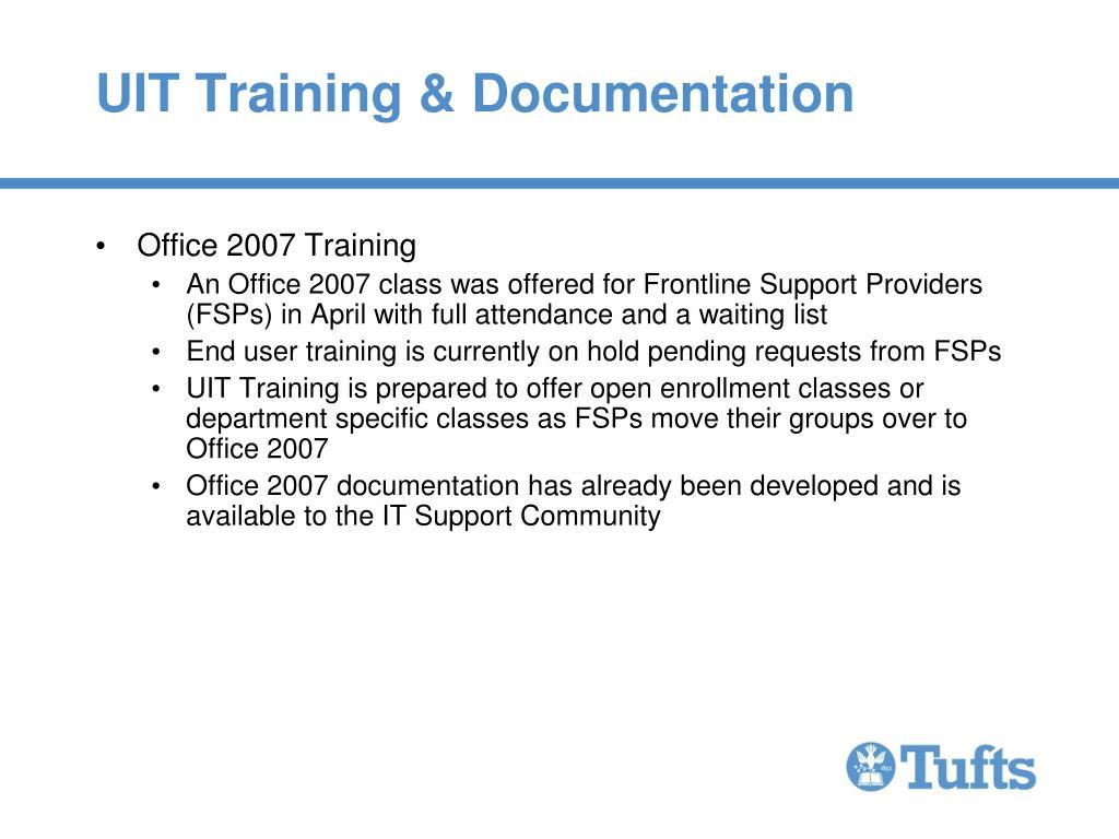 UIT Training & Documentation