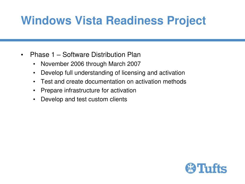 Windows Vista Readiness Project