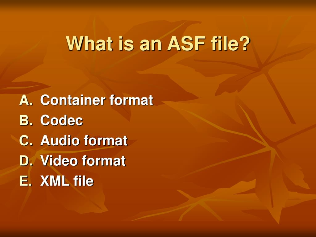 What is an ASF file?