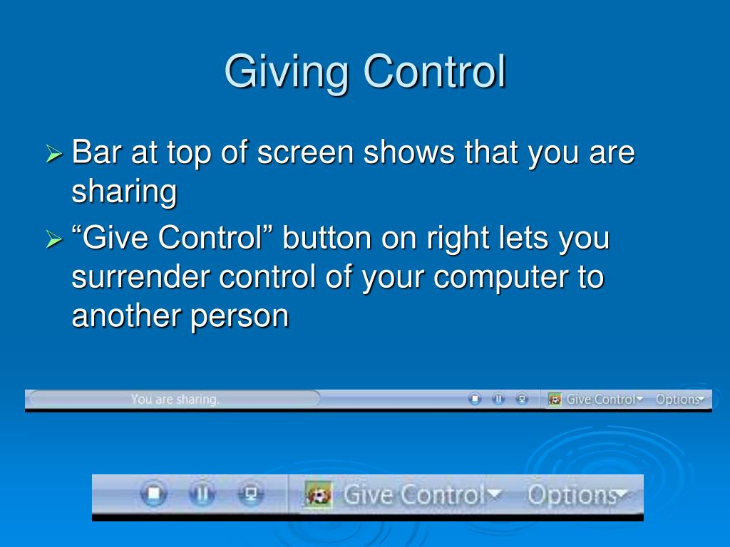 Giving Control