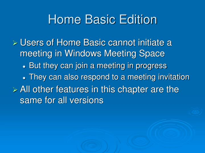 Home basic edition