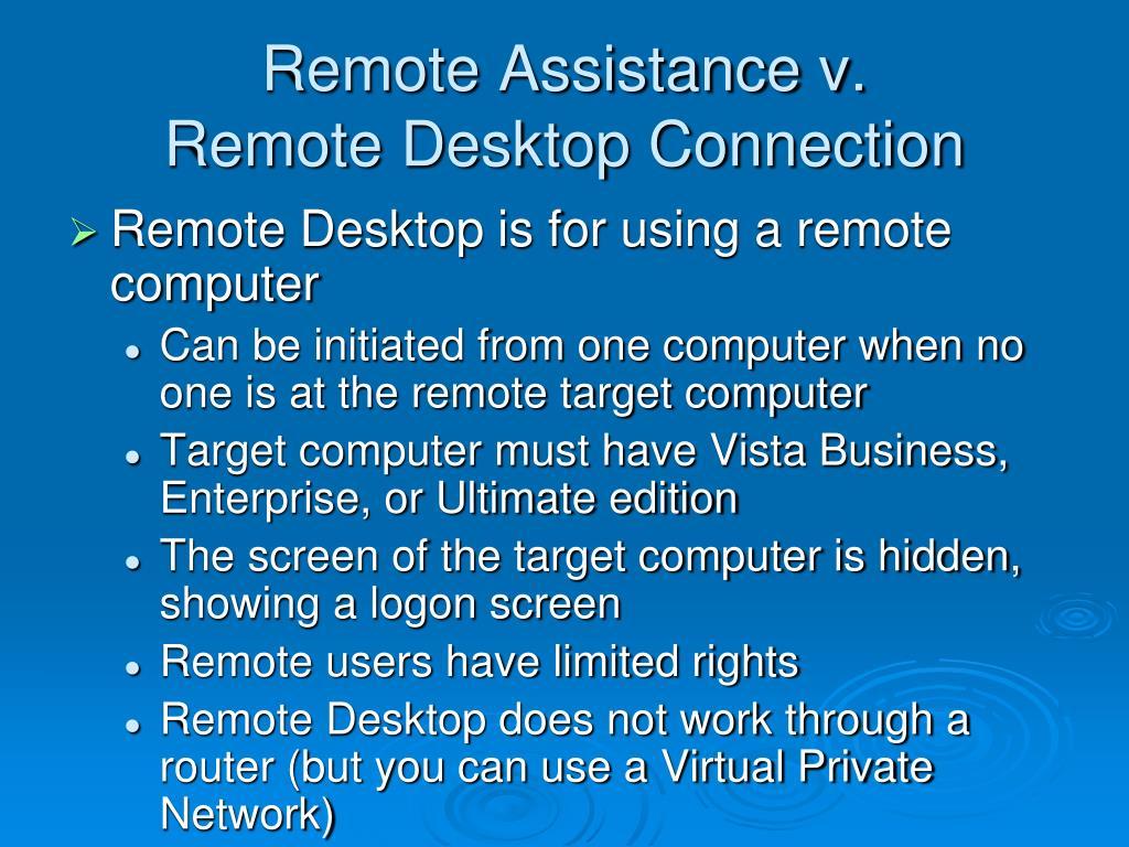 Remote Assistance v.