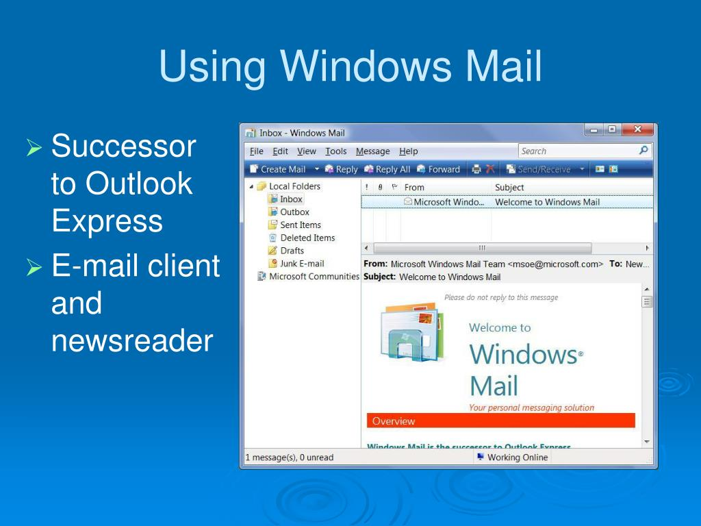 Using Windows Mail