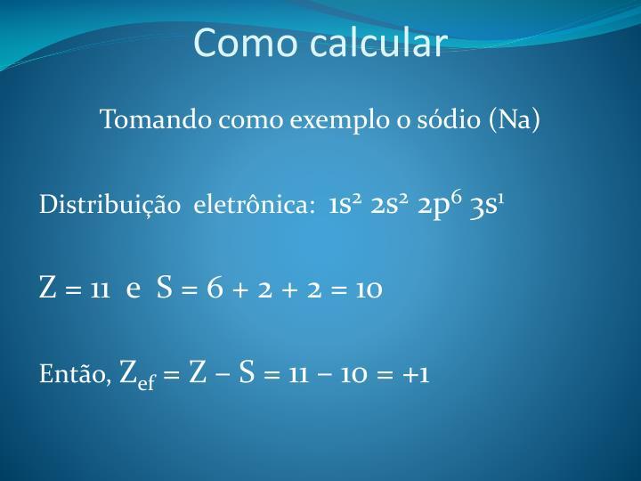 Como calcular