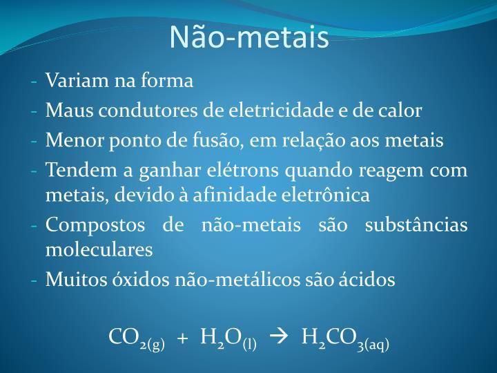 Não-metais