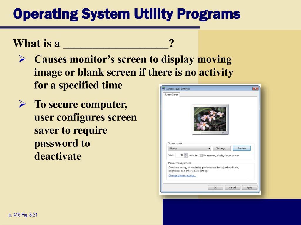 Operating System Utility Programs