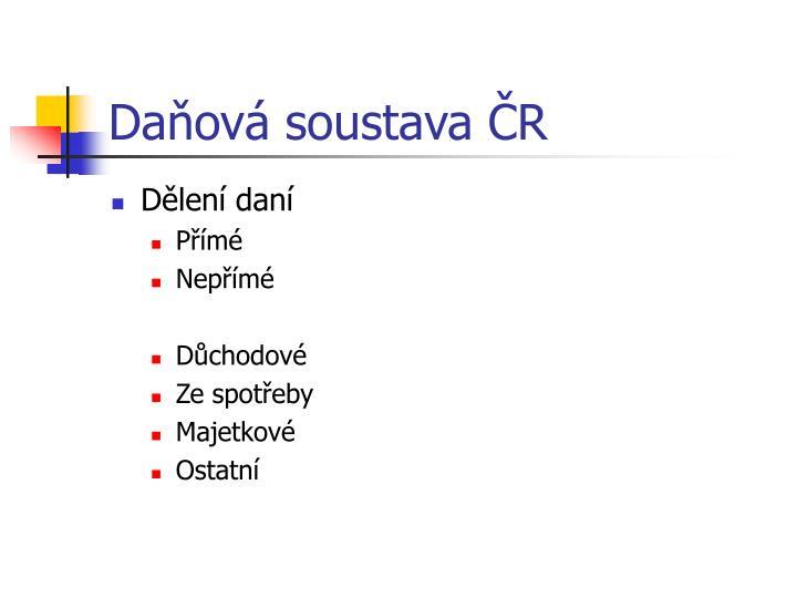 Daňová soustava ČR