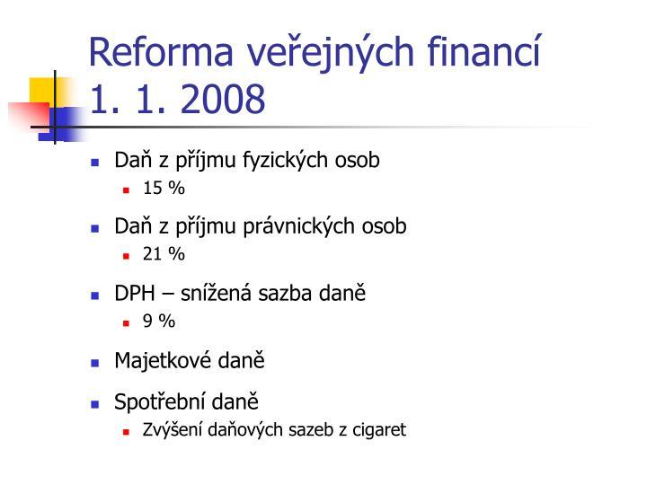 Reforma veřejných financí