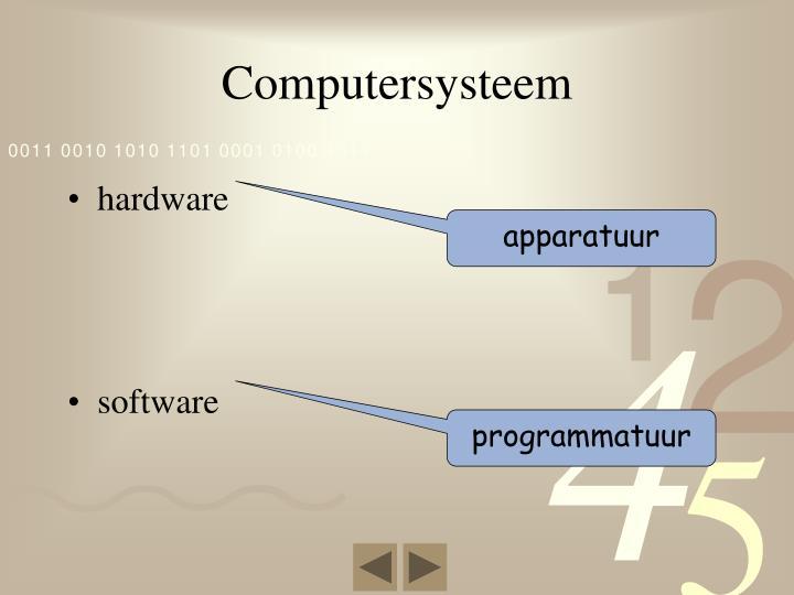 Computersysteem