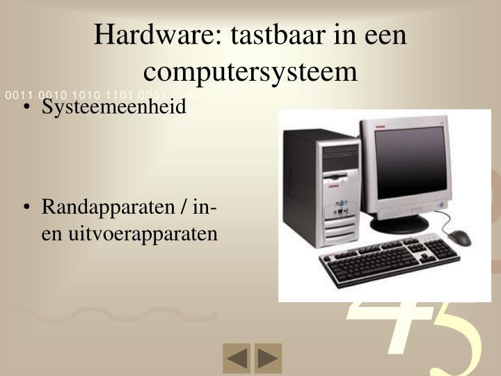Hardware: tastbaar in een computersysteem
