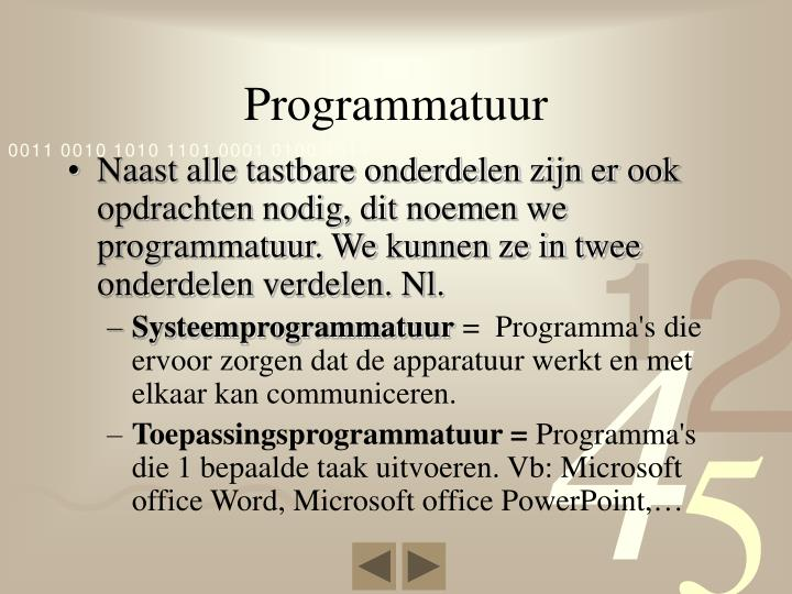 Programmatuur