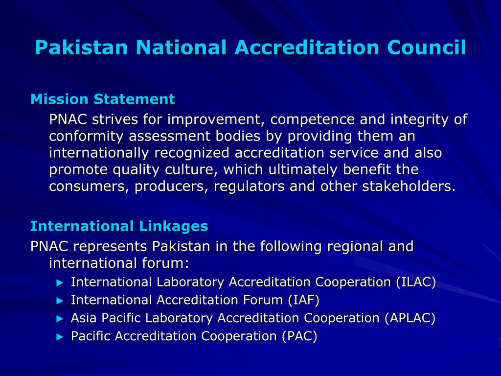 Pakistan National Accreditation Council