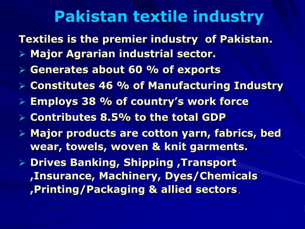 Pakistan textile industry