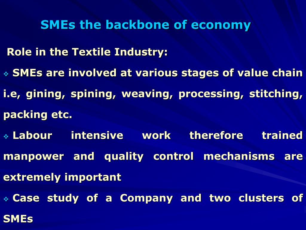 SMEs the backbone of economy