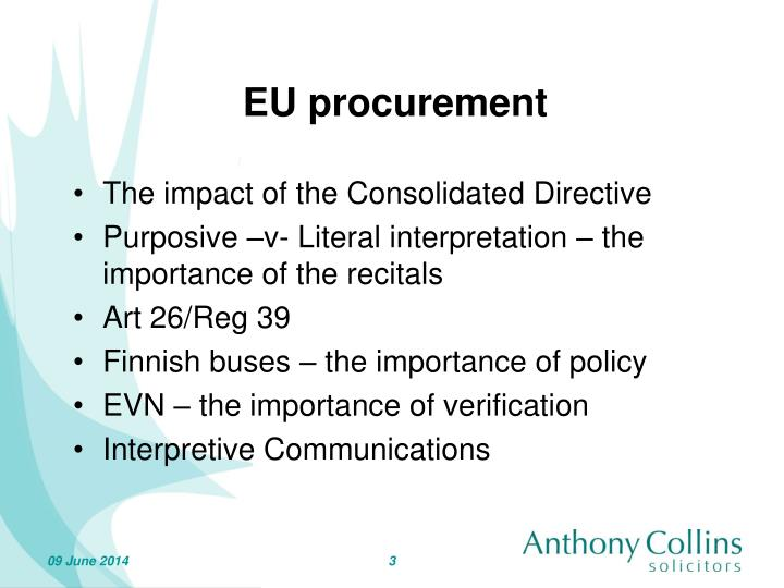 EU procurement