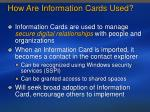 how are information cards used