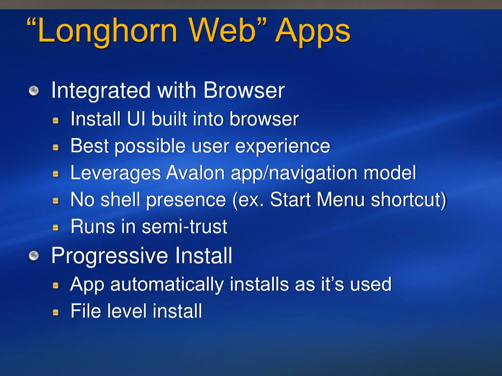 """Longhorn Web"" Apps"