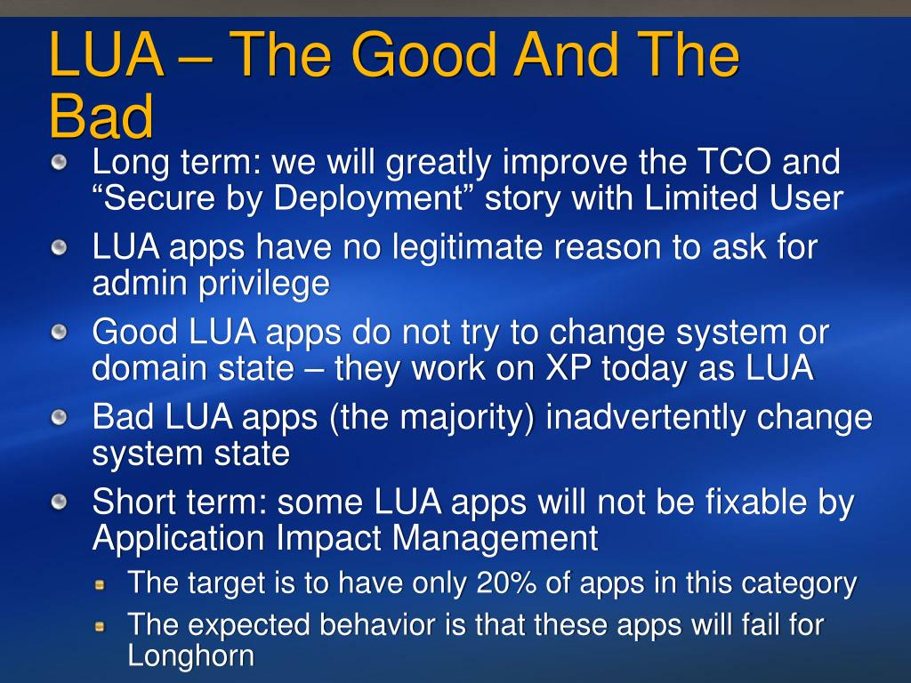 LUA – The Good And The Bad