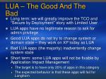lua the good and the bad