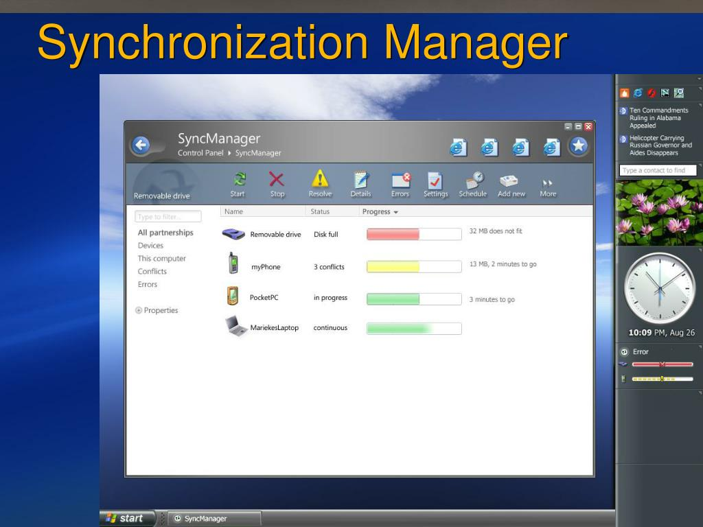 Synchronization Manager