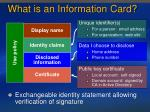 what is an information card