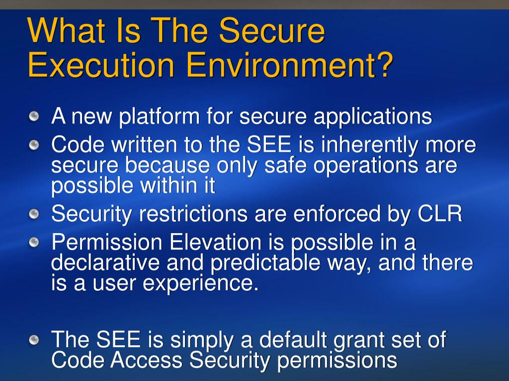 What Is The Secure Execution Environment?