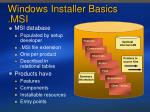 windows installer basics msi