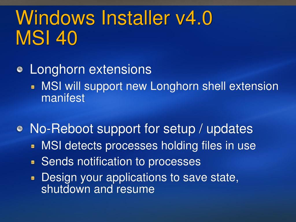 Windows Installer v4.0