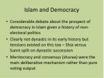 islam and democracy