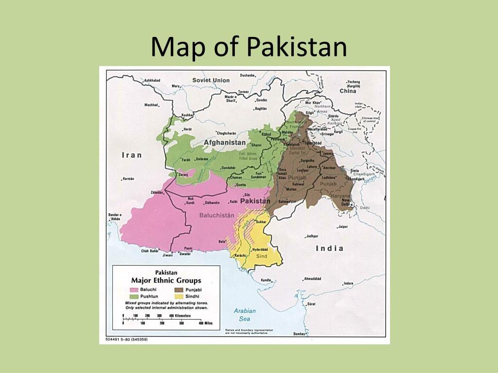 Map of Pakistan