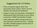 suggestions for u s policy