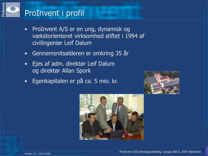 ProInvent i profil