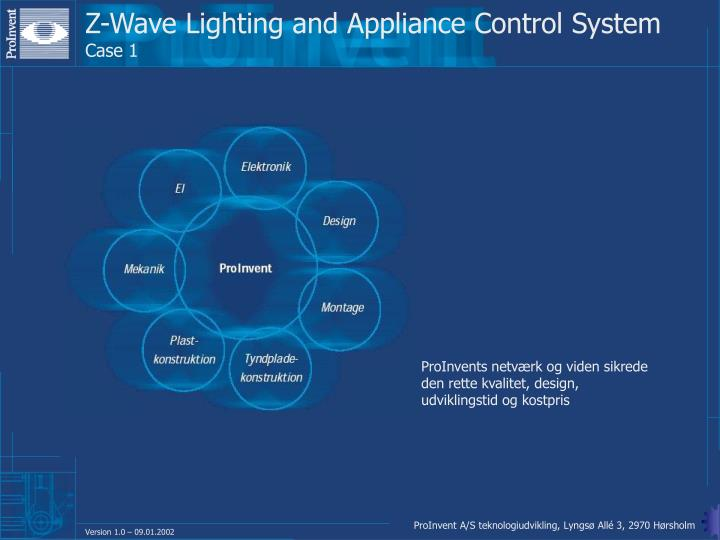 Z-Wave Lighting and Appliance Control System